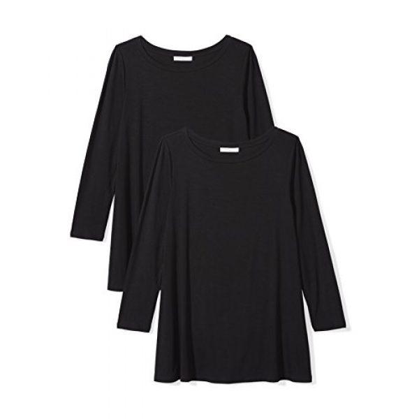 Daily Ritual Graphic Tshirt 1 Women's Jersey 3/4-sleeve Bateau-Neck Swing T-Shirt