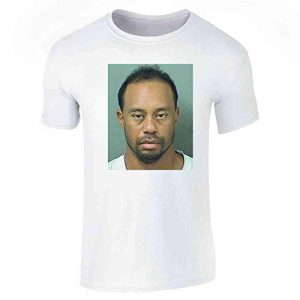Pop Threads Graphic Tshirt 1 Celebrity Mugshot Apparel Funny Golf Vintage Cool Graphic Tee T-Shirt for Men