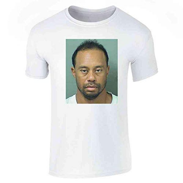 Pop Threads Graphic Tshirt 1 Celebrity Mugshot Apparel Funny Golf Vintage Cool Graphic Tee T-Shirt for Men
