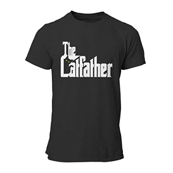 VWMYQ Graphic Tshirt 3 Mens The Cat Father Novelty T-Shirt Cat and Owner Matching Tees for Men
