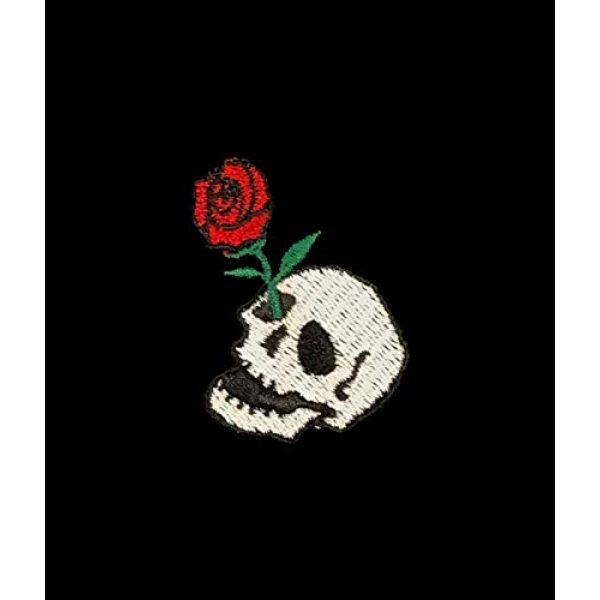 Riot Society Graphic Tshirt 4 Skull Rose Embroidered Men's T-Shirt - Black, Medium