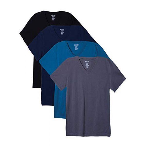 Bolter Graphic Tshirt 1 4 Pack Men's Everyday Cotton Blend V Neck Short Sleeve T Shirt