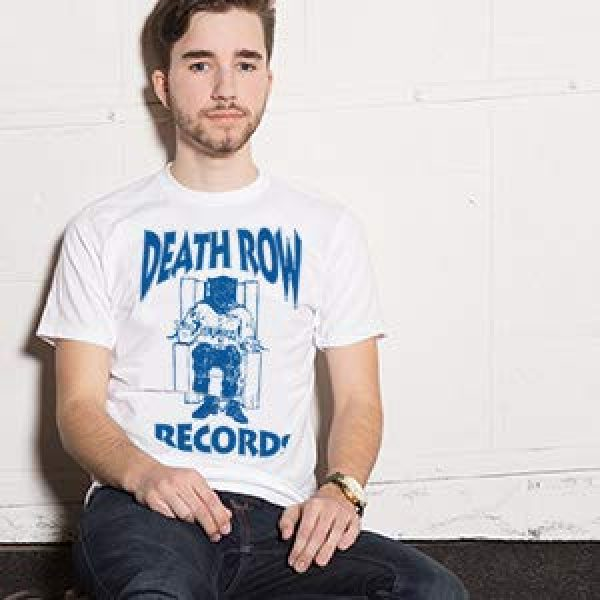 Ripple Junction Graphic Tshirt 3 Death Row Records Adult Unisex Blue Logo Light Weight 100% Cotton Crew T-Shirt