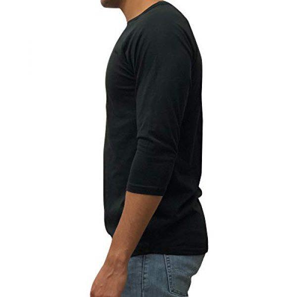 Kangora Graphic Tshirt 2 Mens Plain Raglan Baseball Tee T-Shirt Unisex 3/4 Sleeve Casual Athletic Performance Jersey Shirt
