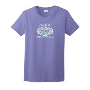 Birthday Gifts For All Graphic Tshirt 1 80th Birthday Gift Made 1941 Paisley Crest Ladies T-Shirt