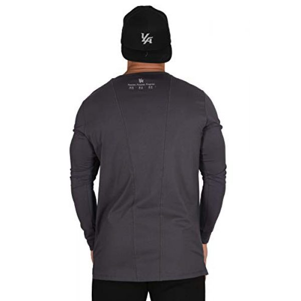 YoungLA Graphic Tshirt 4 Men's Long Sleeve T-Shirt Soft Athletic Muscle Slim Fitted Stretchy 427