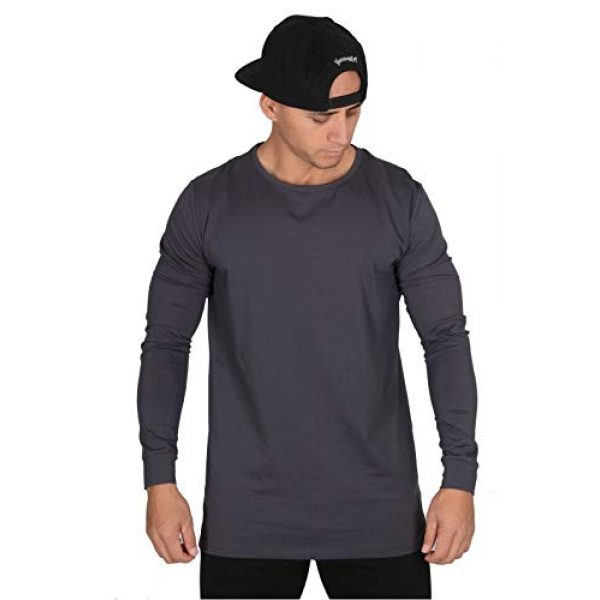 YoungLA Graphic Tshirt 1 Men's Long Sleeve T-Shirt Soft Athletic Muscle Slim Fitted Stretchy 427