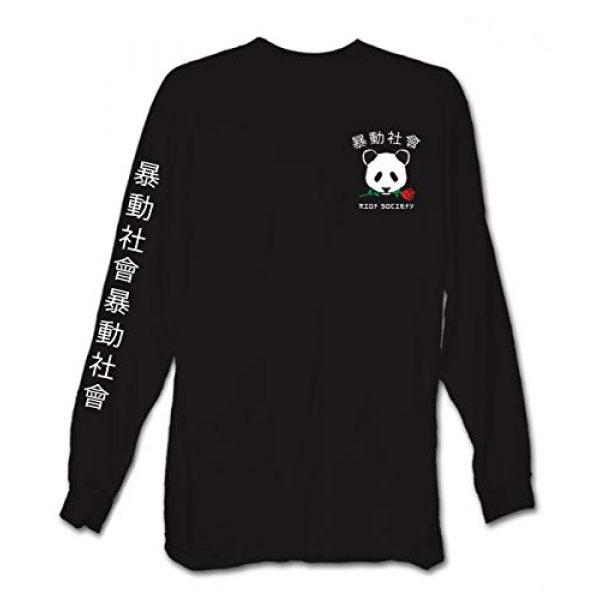 Riot Society Graphic Tshirt 5 Panda Rose Mens Long Sleeve T-Shirt - XXL