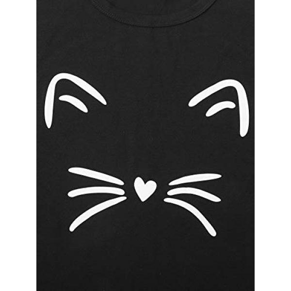 MakeMeChic Graphic Tshirt 3 Women's Graphic Cat Print Tee Cute Round Neck Short Sleeve Lounge T Shirt Tops