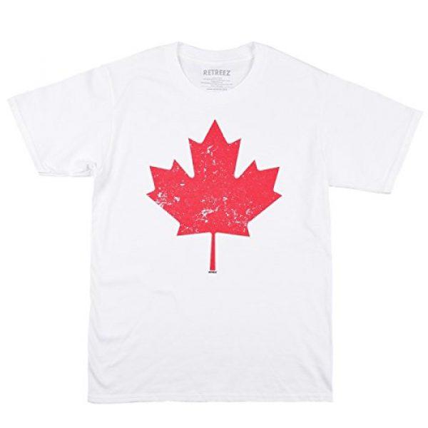 Retreez Graphic Tshirt 3 Vintage Canada Canadian The Maple Leaf Flag Graphic Printed T-Shirt Tee