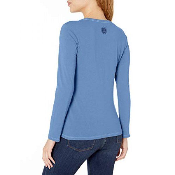 Life is Good Graphic Tshirt 2 Women's Hoho Long Sleeve Crusher T-shirt Snowy Chairs