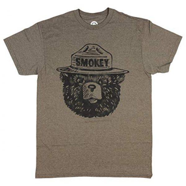Mighty Fine Graphic Tshirt 1 Smokey Bear Face Adult T-Shirt