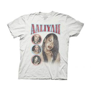 Ripple Junction Graphic Tshirt 1 Aaliyah Adult Unisex 1979-2001 Photo Montage Heavy Weight 100% Cotton Crew T-Shirt