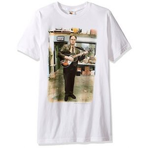 T-Line Graphic Tshirt 1 Men's The Office Tv Series Dwight Guitar Graphic T-Shirt