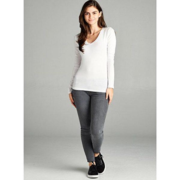 Emmalise Graphic Tshirt 5 Women's Junior and Plus Size Vneck Tshirt Long Sleeves Shirt Tee