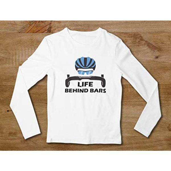 Tstars Graphic Tshirt 4 Life Behind Bars Shirt Gift for Bicycle Riders Funny Bike Long Sleeve T-Shirt