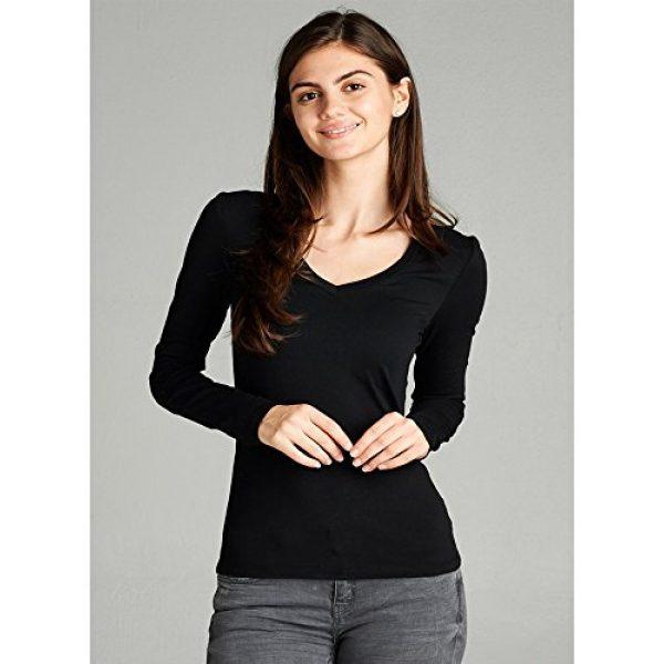 Emmalise Graphic Tshirt 3 Women's Junior and Plus Size Vneck Tshirt Long Sleeves Shirt Tee