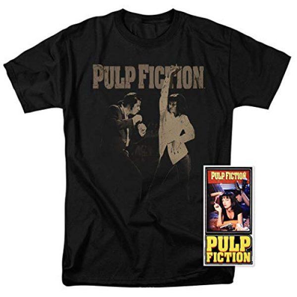 Popfunk Graphic Tshirt 2 Pulp Fiction Movie Uma Thurman John Travolta T Shirt & Stickers