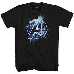Marvel Graphic Tshirt 1 Avengers A Lightning Thor Logo Symbol Adult Graphic T-Shirt