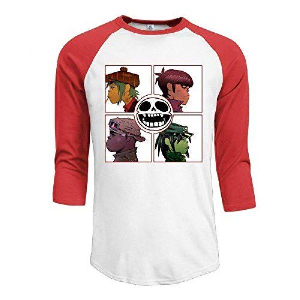 JuJuhk Graphic Tshirt 1 Men's Gorillaz Demon Days 3/4 Sleeves Baseball T-Shirts