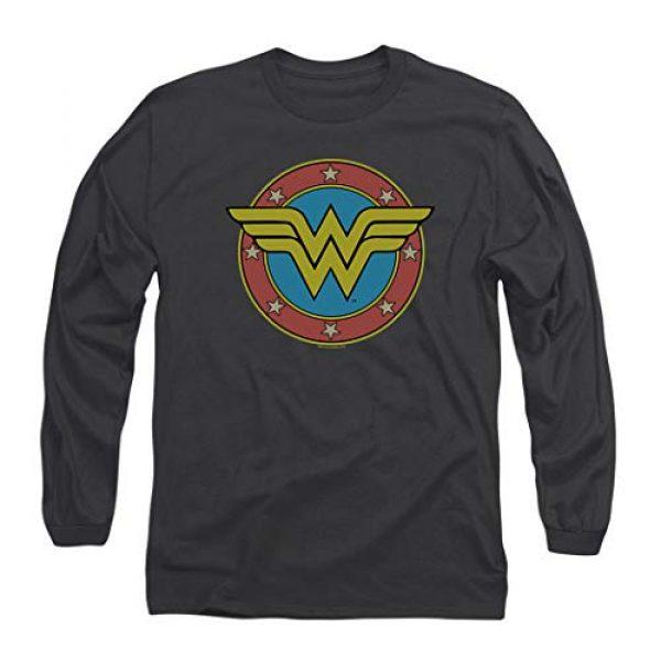 Popfunk Graphic Tshirt 1 Wonder Woman Vintage Logo DC Comics Longsleeve T Shirt & Stickers