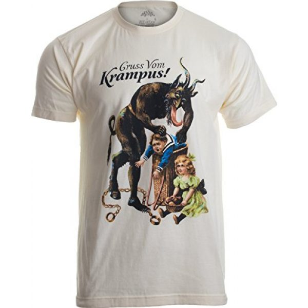 Ann Arbor T-shirt Co. Graphic Tshirt 1 Gruss Vom Krampus!   (Greetings from) Germanic Christmas Demon Unisex T-Shirt