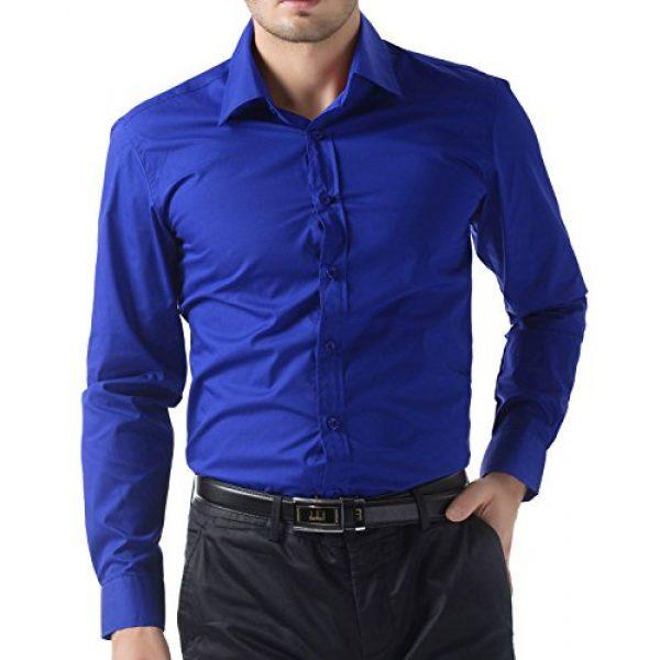PJ PAUL JONES Graphic Tshirt 1 Paul Jones Men's Long Sleeves Button Down Dress Shirts