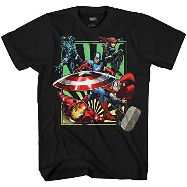 Marvel Graphic Tshirt 1 Avengers Iron Man Captain America Black Widow Thor Avengers Vortex Adult T-Shirt