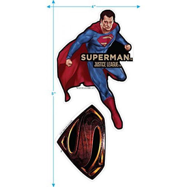 Popfunk Graphic Tshirt 3 Justice League Movie Superman Logo DC Comics T Shirt & Stickers