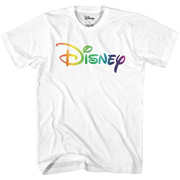 Disney Graphic Tshirt 1 Men's Officially Licensed Color Logo Adult Graphic Tee T-Shirt