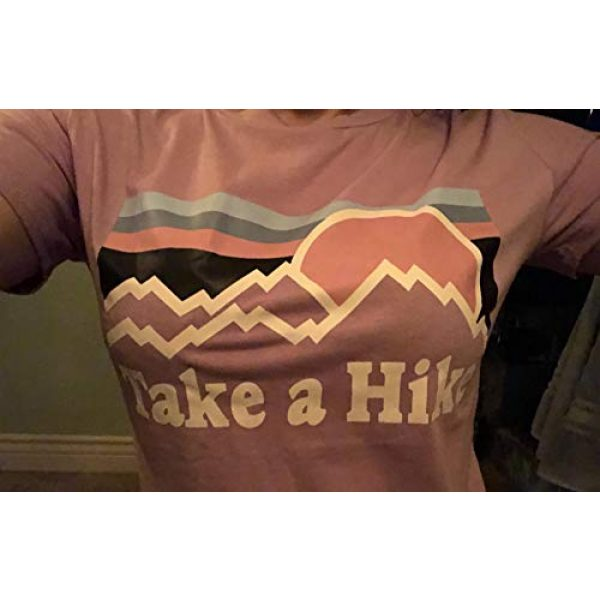 Erxvxp Graphic Tshirt 4 Women Take A Hike Letter Printed Casual T-Shirt Round Neck Tops