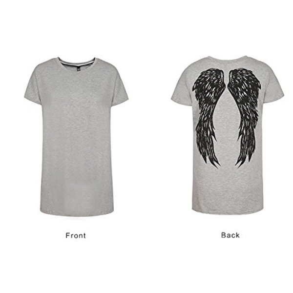 FV RELAY Graphic Tshirt 5 Womens Casual Angel Wings Short Sleeve Plus Size T Shirts Summer Tops Tee