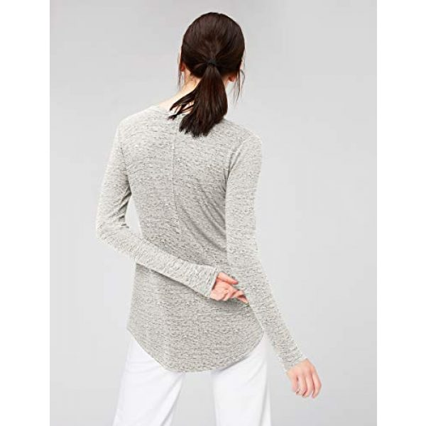 Daily Ritual Graphic Tshirt 3 Amazon Brand - Daily Ritual Women's Supersoft Terry Long-Sleeve Shirt with Shirttail Hem