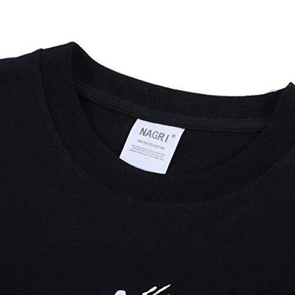 NAGRI Graphic Tshirt 6 Men's Gengar Vintage T Shirt Don't Kill Hip-Hop Graphic Printing Rap Music Tee White Black