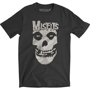 Impact Graphic Tshirt 1 Misfits Distressed Skull Men's Fitted Jersey T Shirt