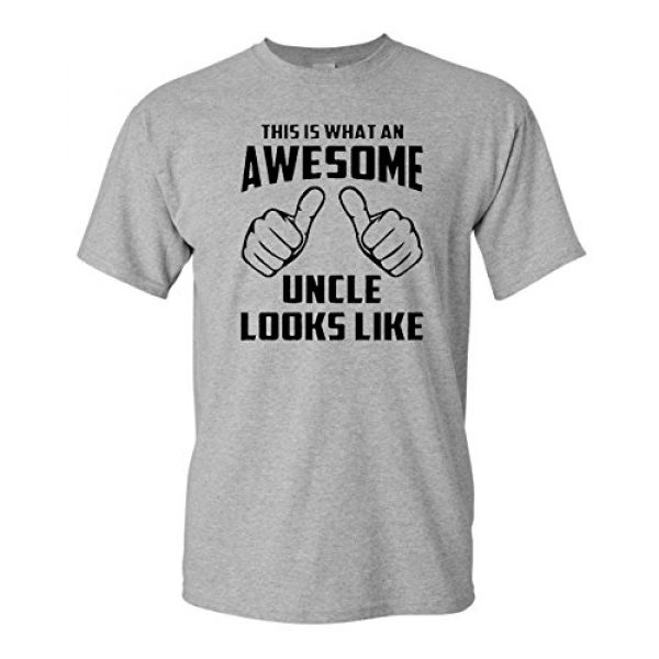 City Shirts Graphic Tshirt 1 Awesome Uncle Looks Like Adult Funny Adult T-Shirt Tee