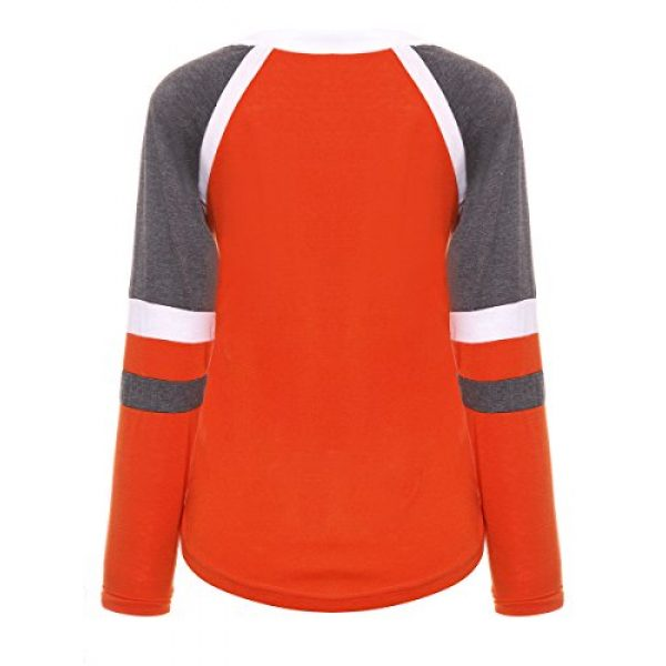Famulily Graphic Tshirt 4 Women's Lace Up Front Long Sleeve Tops Striped Crew Neck Raglan Baseball Tee Shirt