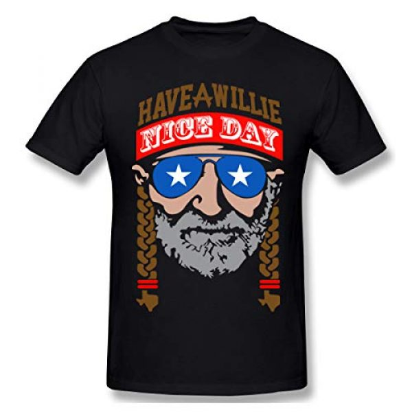 FOECBIR Graphic Tshirt 1 Have A Willie Nice Day Crew Neck Short-Sleeve T-Shirts for Mens