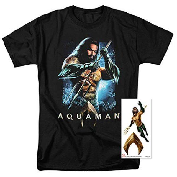 Popfunk Graphic Tshirt 2 Aquaman Movie Jason Mamoa Trident T Shirt & Stickers