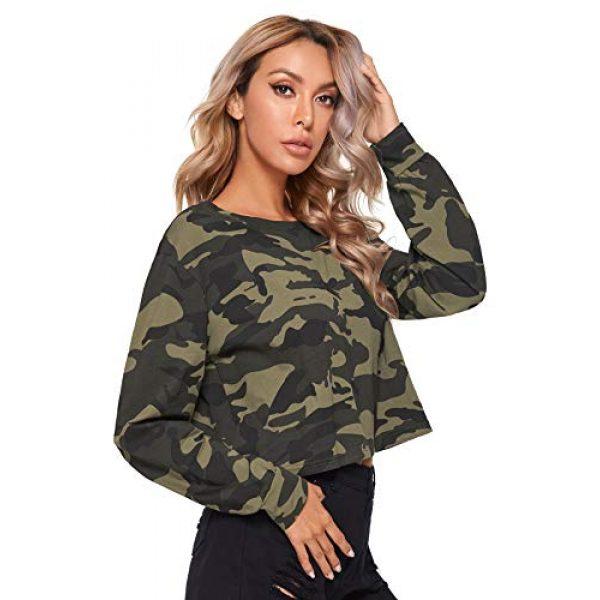 SweatyRocks Graphic Tshirt 3 Women's Tshirt Long Sleeve Distressed Crop T-Shirt Top