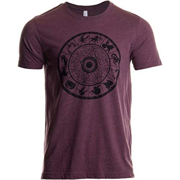 Ann Arbor T-shirt Co. Graphic Tshirt 1 Zodiac Wheel | Stylish Horoscope Art Astrology Spiritual Unisex Triblend T-Shirt