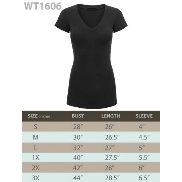 Lock and Love Graphic Tshirt 6 Women's Basic Slim Fitted Short Sleeve Casual V Neck Cotton T Shirt