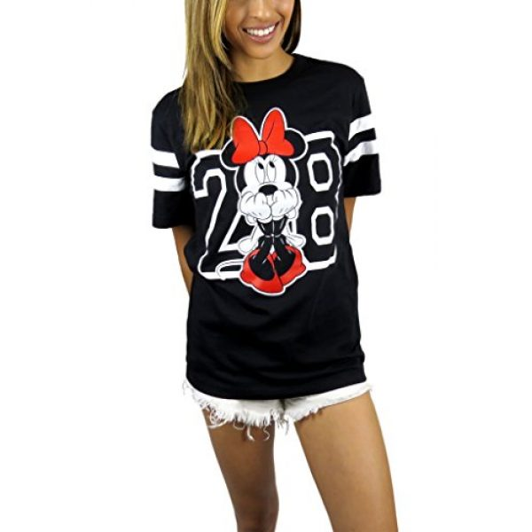 Disney Graphic Tshirt 1 Womens Minnie Mouse Varsity Football Tee