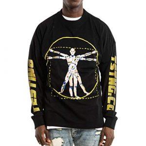 NAGRI Graphic Tshirt 1 ASAP Rocky Testing Long Sleeve Tshirt Injured Generation Tour Hip Hop Letter Printed Graphic Hoodie Black
