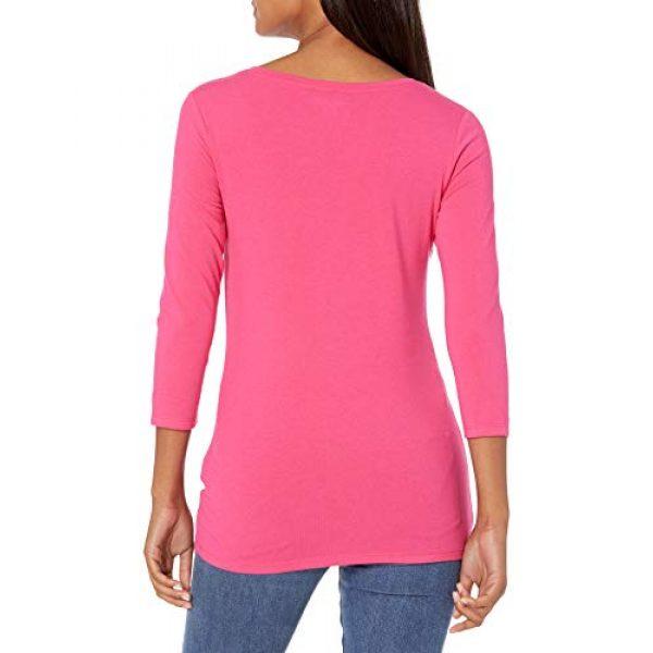 Amazon Essentials Graphic Tshirt 2 Women's Classic-Fit 3/4 Sleeve V-Neck T-Shirt