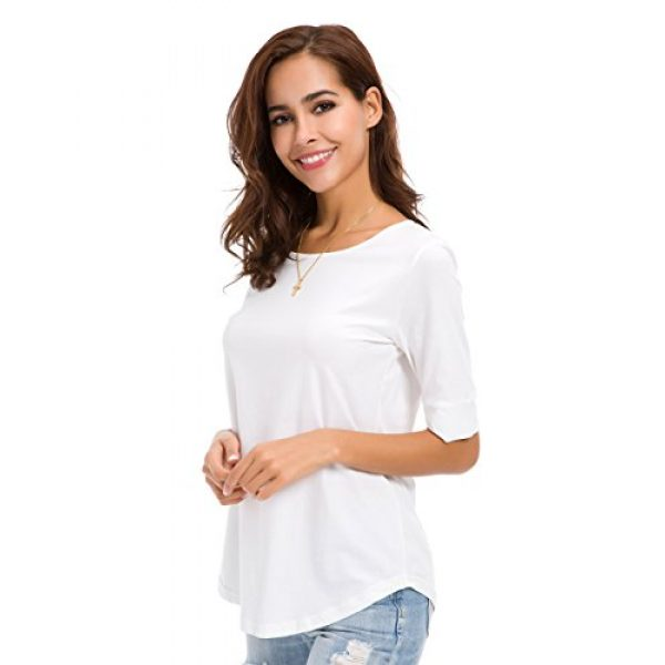 MSHING Graphic Tshirt 2 Women's Summer Casual Loose Fitting Tops Simple Crew Neck Plain Half Sleeve T-Shirt