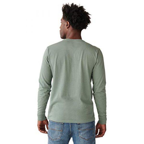 Lucky Brand Graphic Tshirt 2 Men's Long Sleeve Crew Neck Bison Tee Shirt