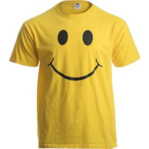 Ann Arbor T-shirt Co. Graphic Tshirt 1 Smiling Face | Cute, Positive, Happy Smile Fun Teacher T-Shirt for Men or Women