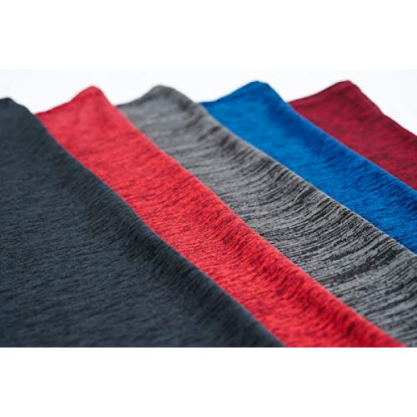 Real Essentials Graphic Tshirt 4 5 Pack: Mens V-Neck Dry-Fit Moisture Wicking Active Athletic Tech Performance T-Shirt