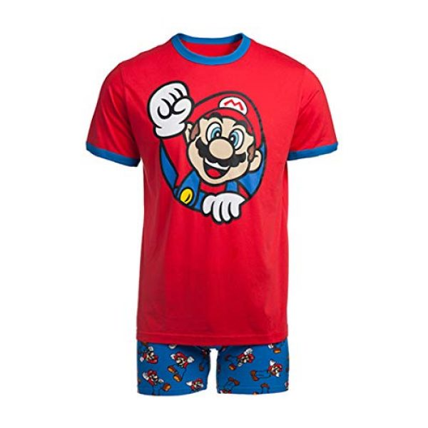 Nintendo Graphic Tshirt 1 Men's Video Game Character Boxer Brief Underwear and T-Shirt Set